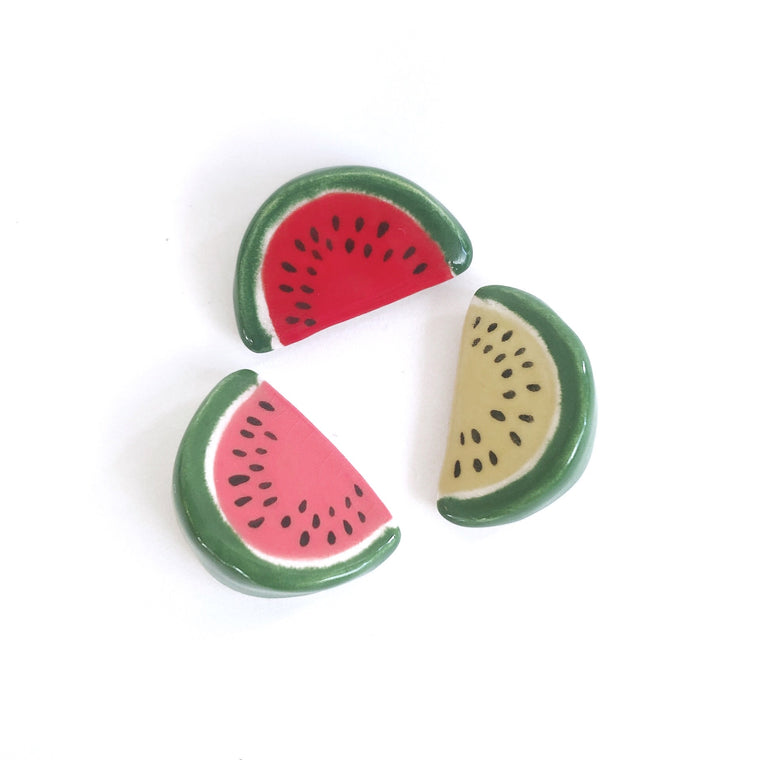 Watermelon Ceramic Magnet by Beachcake