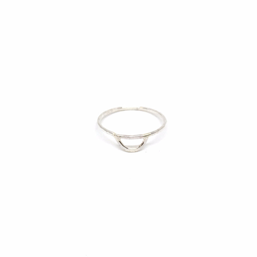 Half Moon Outline Ring