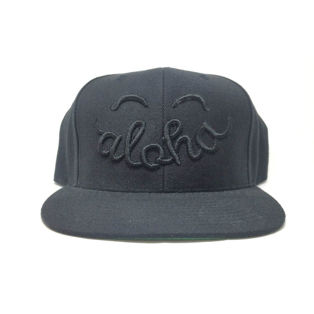 Smile Aloha Embroidered 6 Panel Cap