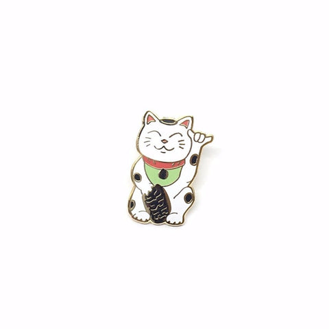 SHAKA NEKO LAPEL PIN BY MISTPRINT