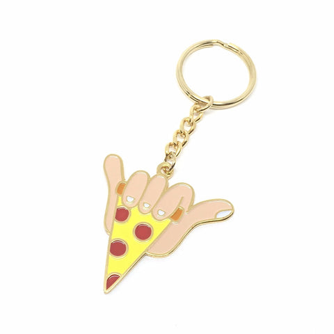 GOLD SHAKA SLICE KEYCHAIN BY ADIDAP