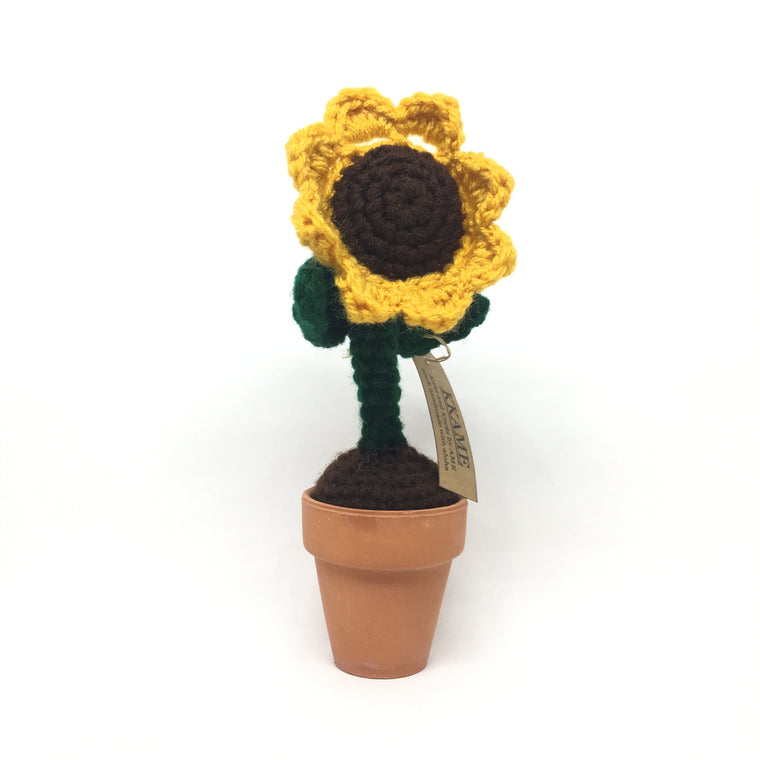 Knitted Sunflower Pot