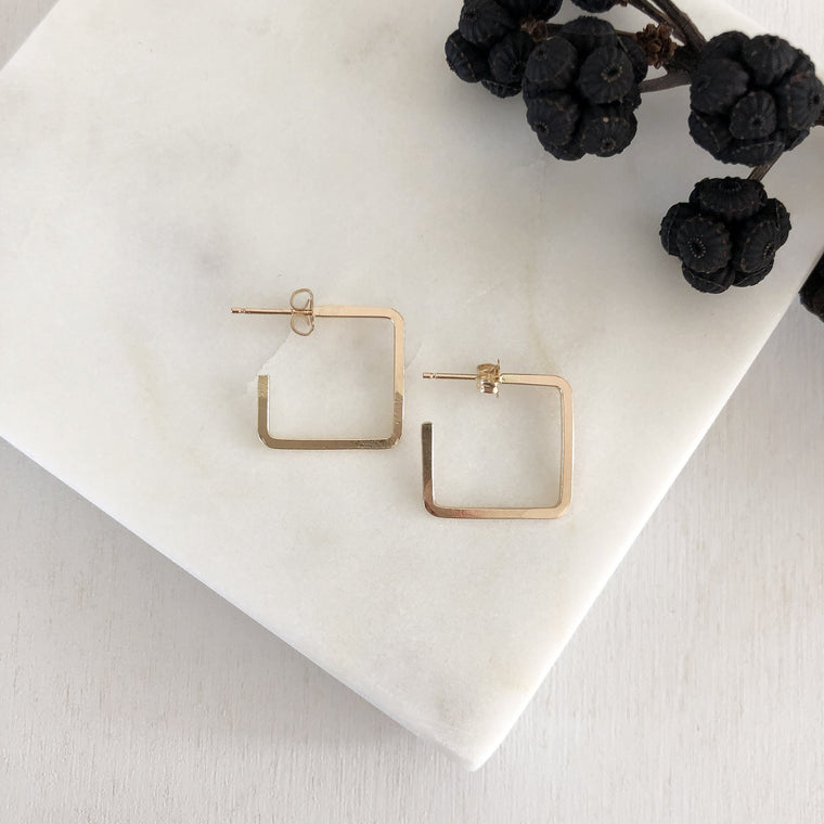 Square Edge Hoop