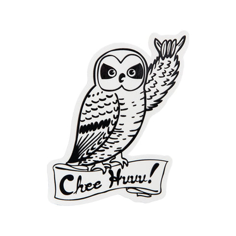 Chee Huuu Owl Sticker
