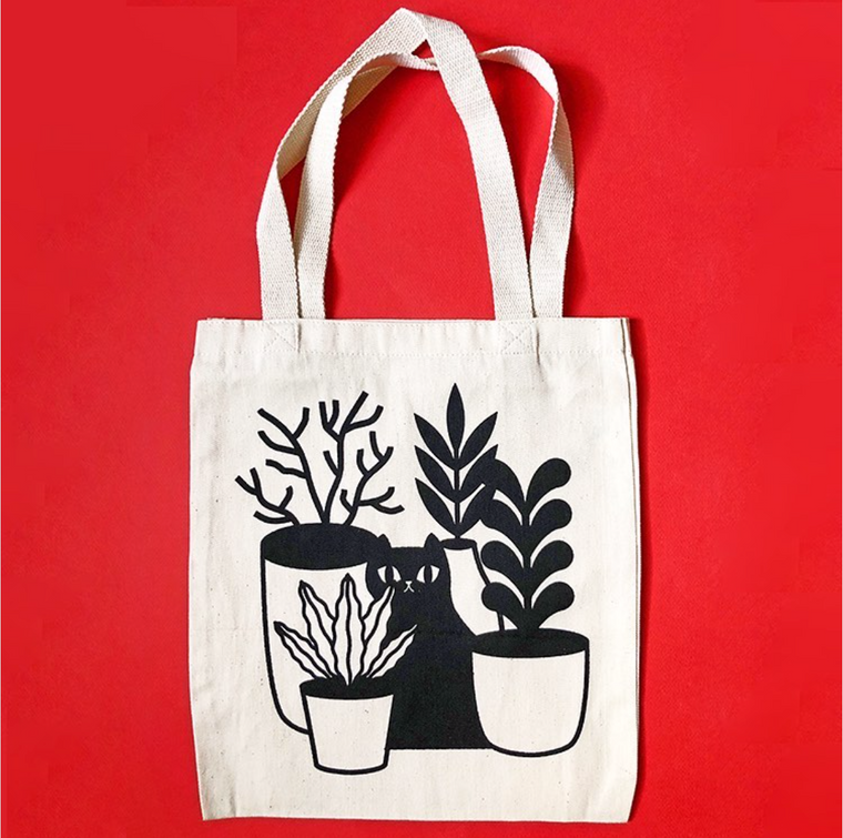 Cat+Plants Tote