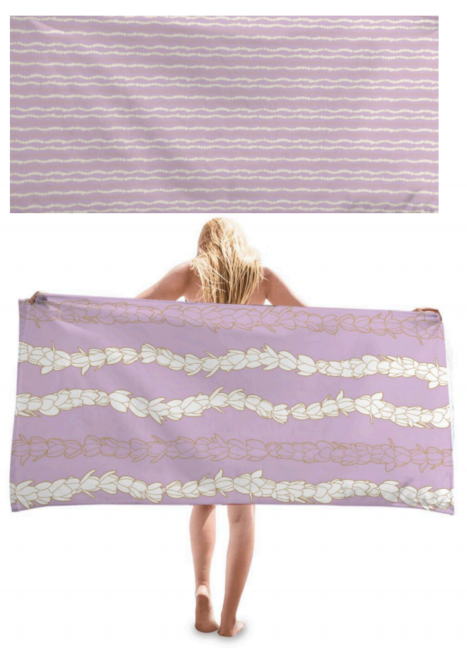 Double-Sided Microfiber Towel in Pīkake Lei
