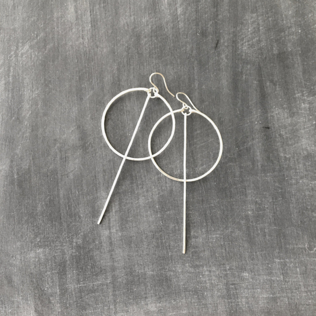 Circle Long Bar Earrings