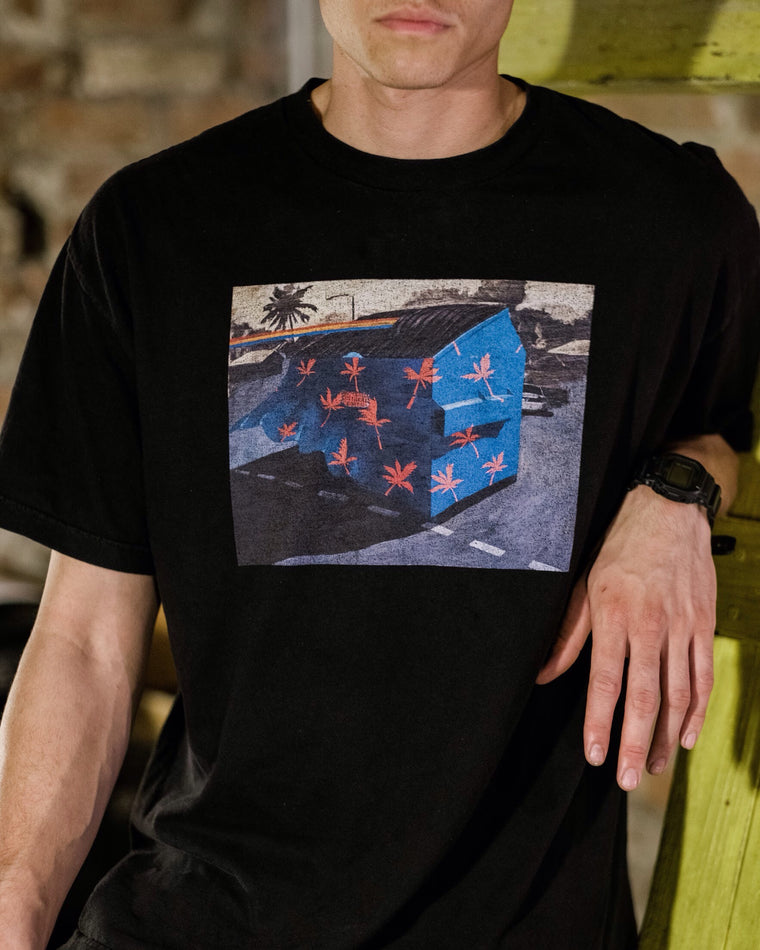 Honolulu Cultural Center Blue Dumpster T-shirt