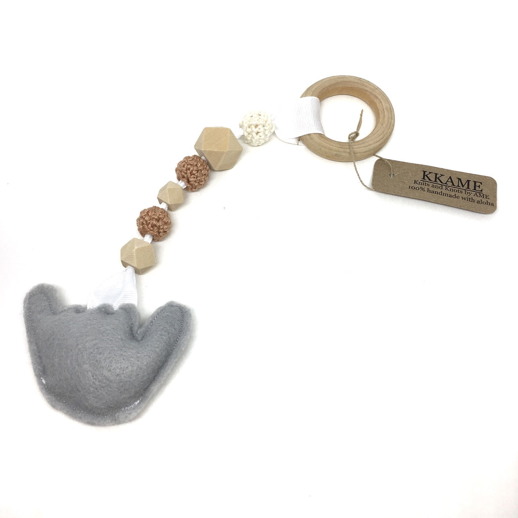 Shaka Baby Teether with Wood Beads