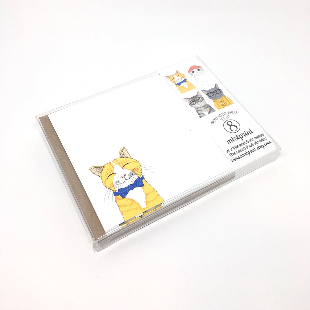 NEKO NOTECARD SET BY MISTPRINT