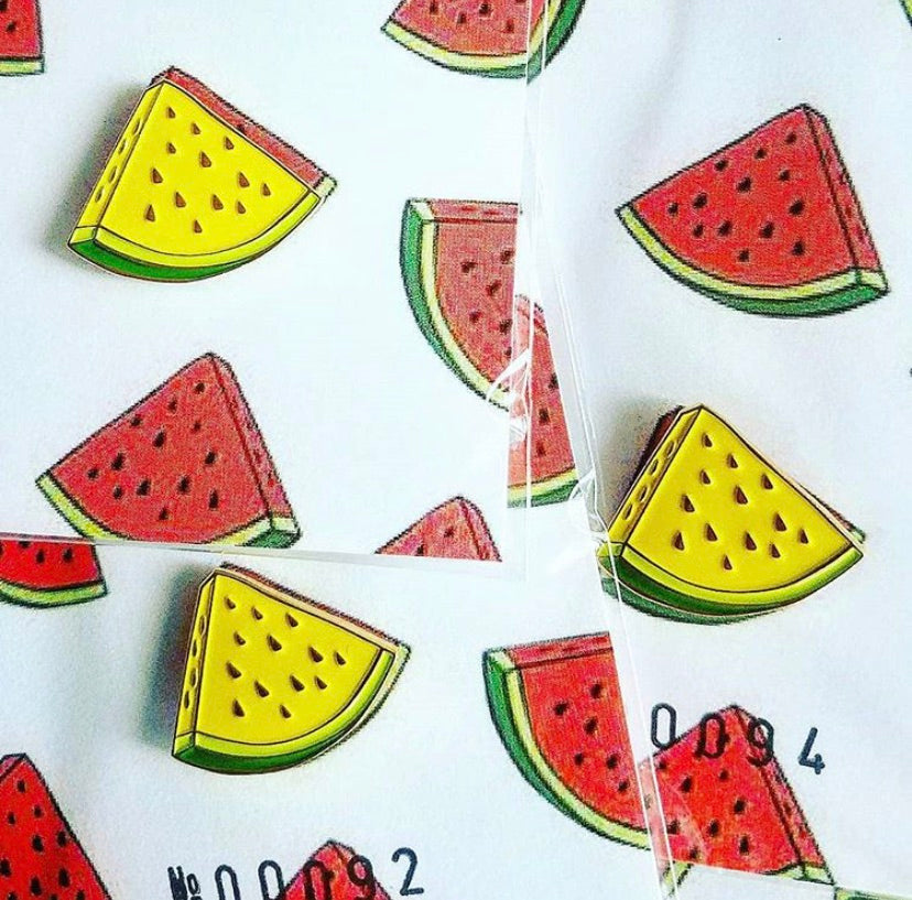 Red+Yellow watermelon pin set by Ohtoro