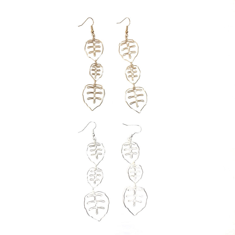 Tempus (3-Leaf) Earrings