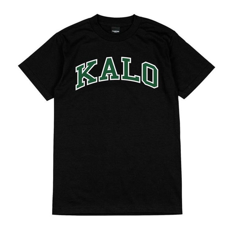 Kalo Tee - Black /Green Outlined