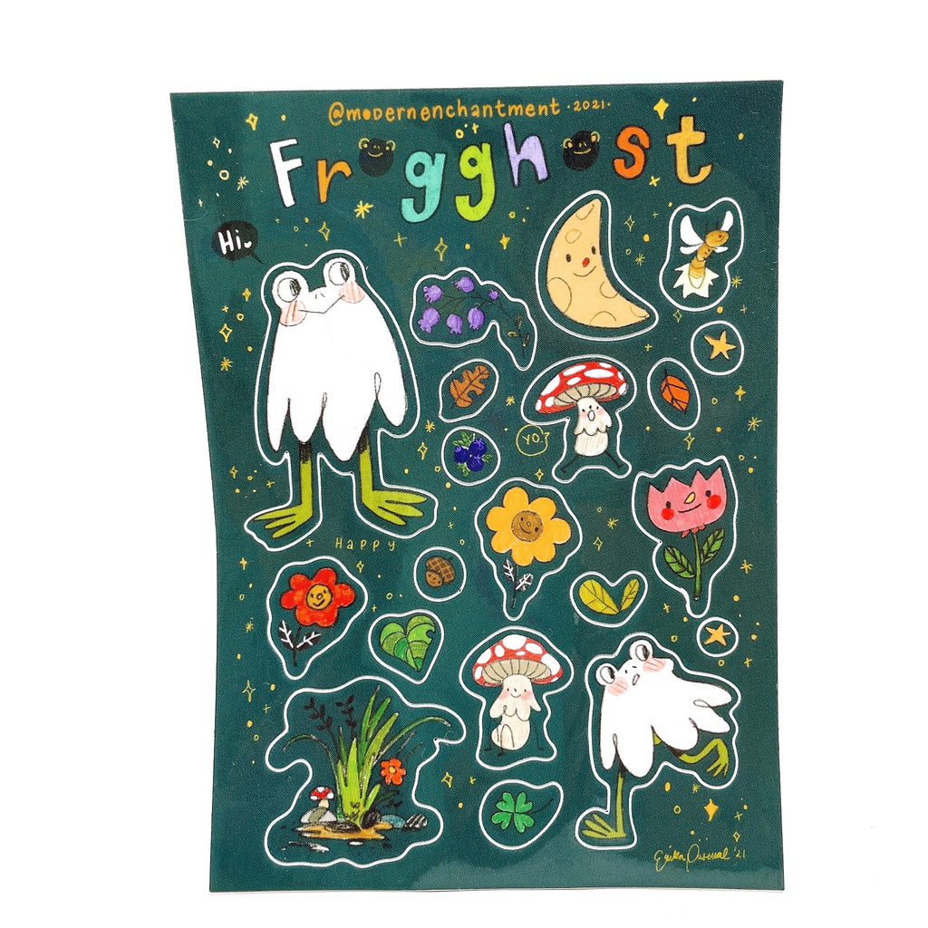 Frogghost Sticker Sheet by Modern Enchantment