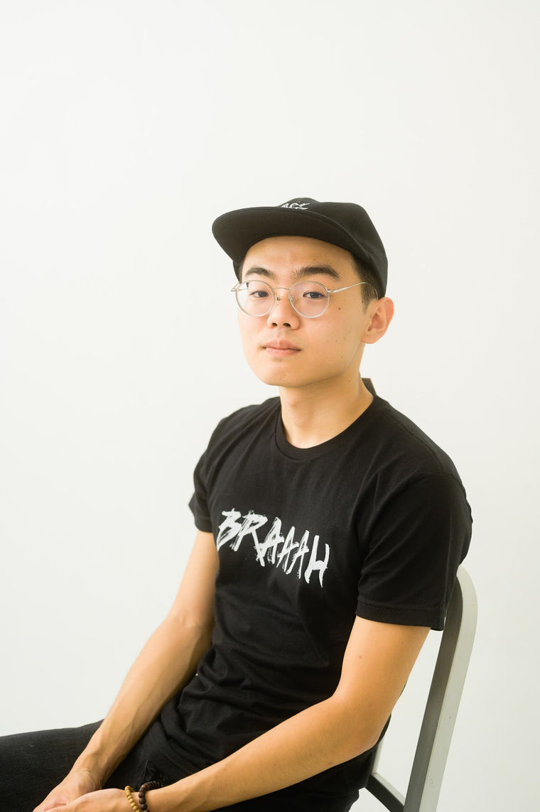 BRAAAH Logo Tee in Black