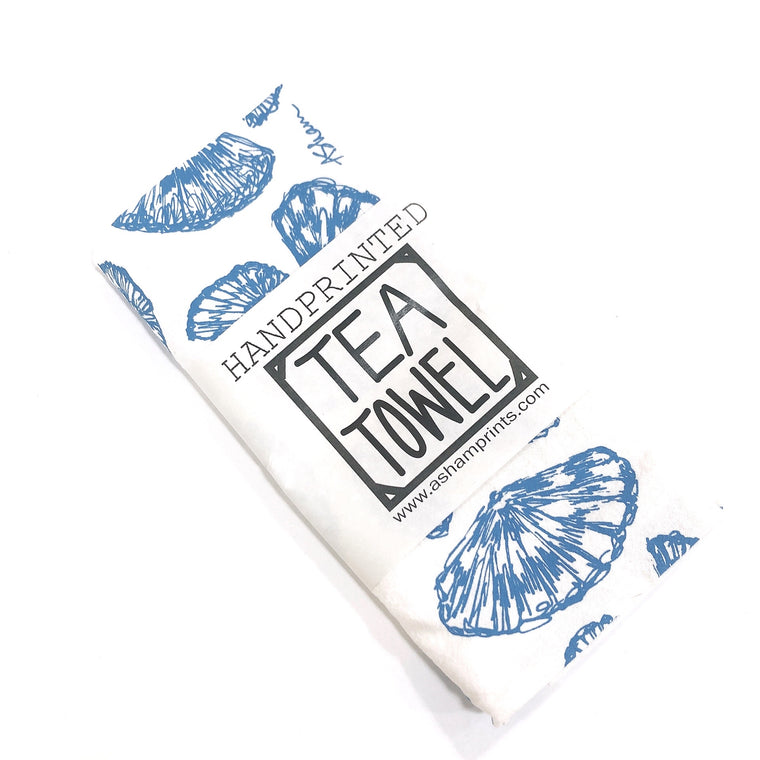 Handprinted Tea Towel by April Sham