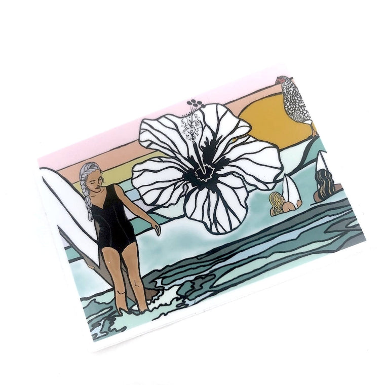 Surfer Girl Sticker