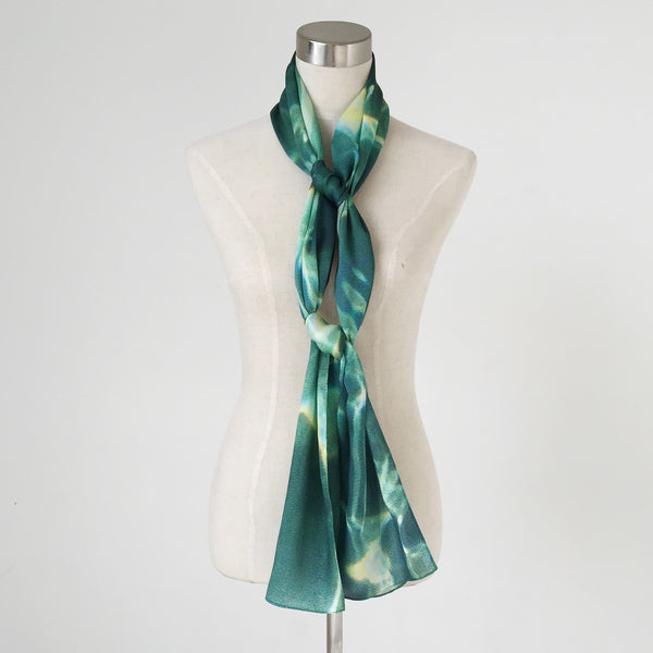 Electric Water Silk Scarf