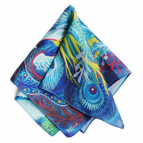Sea Ghost Silk Pocket Square