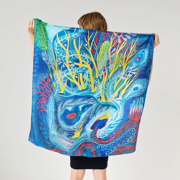 Sea Ghost Silk Scarf