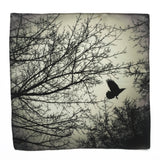 As The Crow Flies Silk Pocket Square