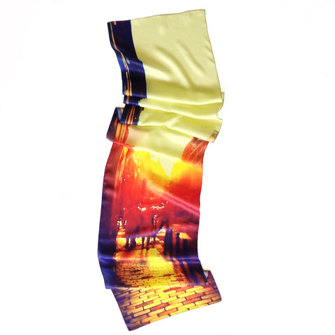 Paris Sunset Silk Scarf
