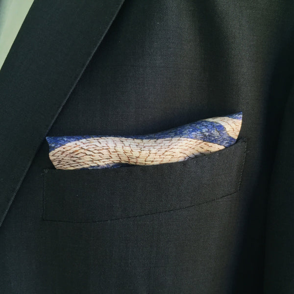 Rossio Cobblestones Silk Pocket Square