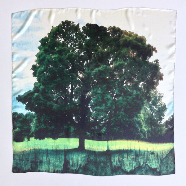 Summer Tree Silk Scarf