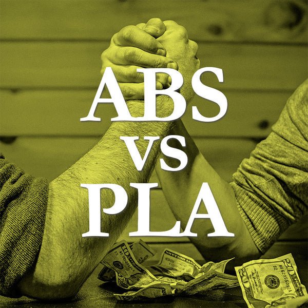 PLA vs ABS Infographic & Decision Guide