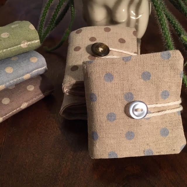 Needle Book - natural/dots