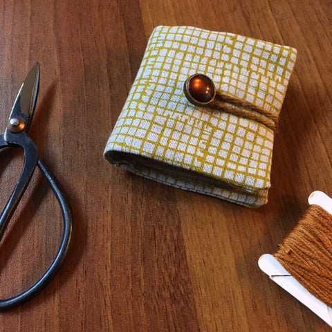 Needle Book - amber