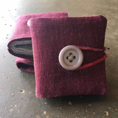 Needle Book - purple linen