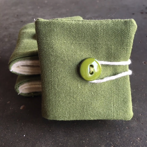Needle Book - green linen