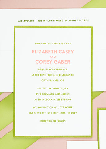 Wedding invitation example 3