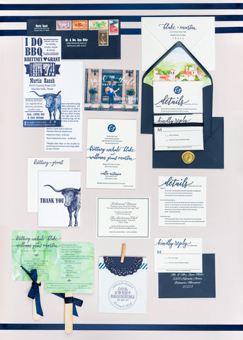 Wedding Invite Suite and Ceremony Programs