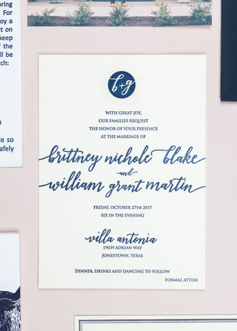 Invitation to the ceremony