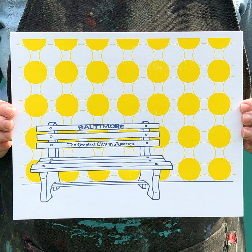 "Baltimore Maryland | ""Greatest City in America"" Bench 