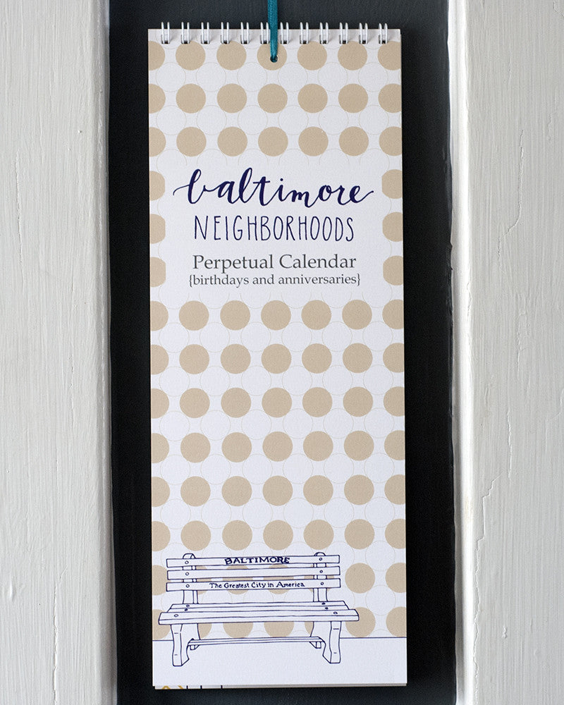 Baltimore Maryland | Neighborhoods Perpetual Calendar