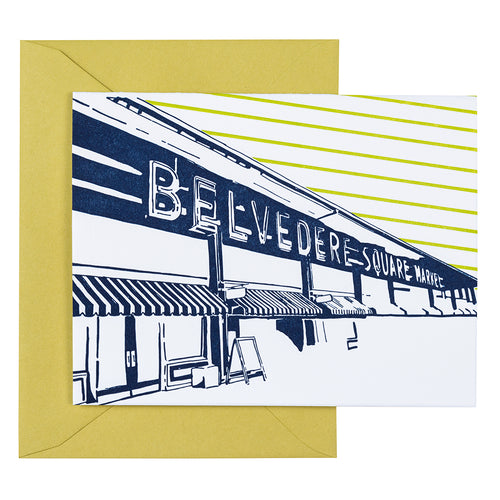 Baltimore Maryland | Belvedere Square | Letterpress City Card