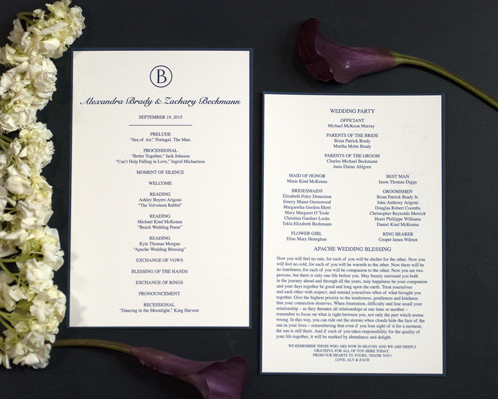 Letter Monogram Wedding Invitation Suite