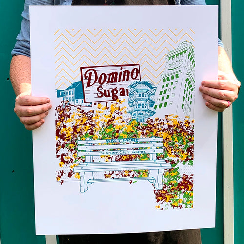 "Baltimore Maryland | Charm City Revisited | Limited Edition Silk Screen 16"" x 20"" poster"