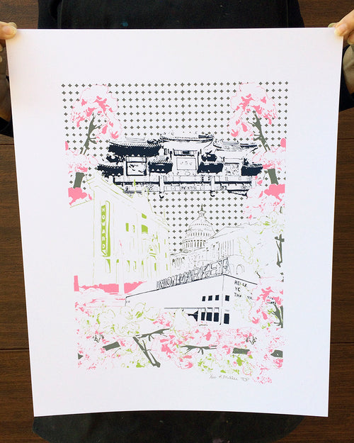 Washington D.C. Architecture Silk Screen Poster | Limited Edition Print