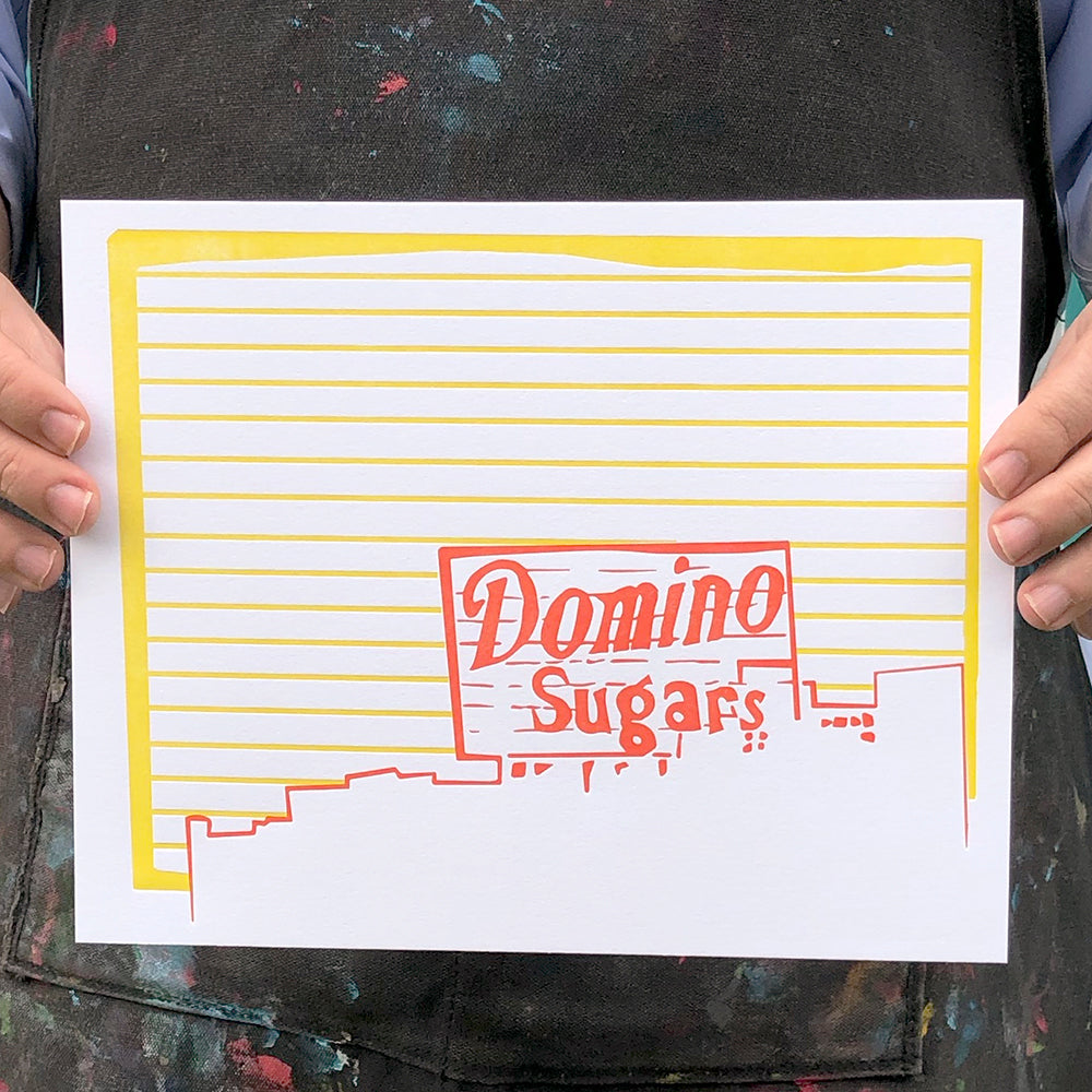 "Baltimore Maryland | Domino Sugars Factory | Letterpress 8""x10"" Poster"