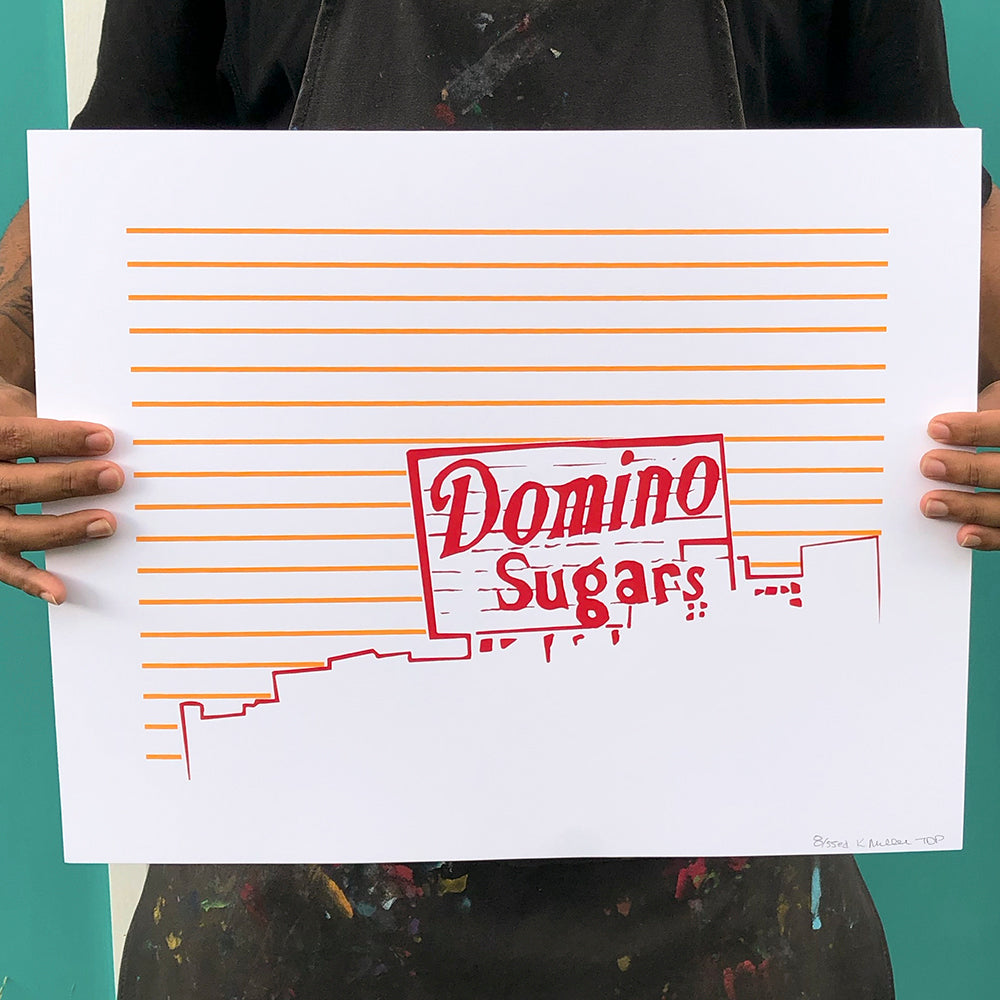 "Baltimore Maryland | Domino Sugars Sign | Limited Edition Silk Screen 16"" x 20"" poster"