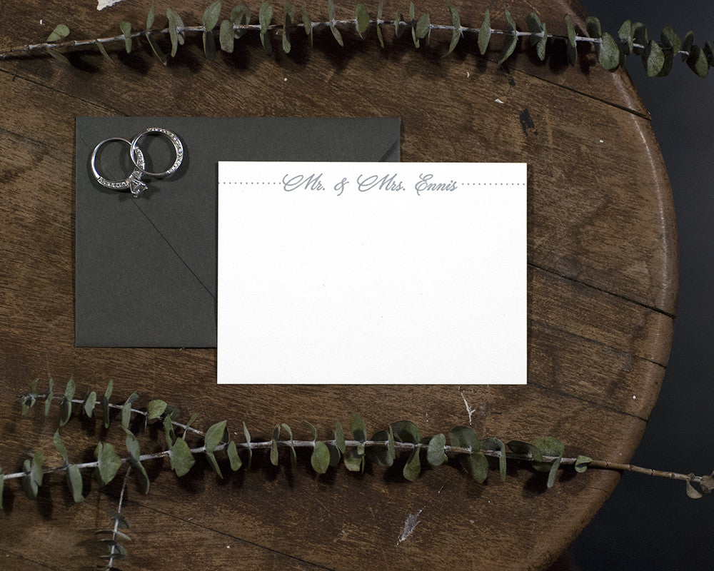 Mr. & Mrs. Personalized Stationery