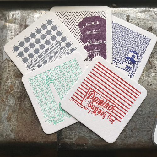 Baltimore Coasters | Letterpress Coasters Package of 5