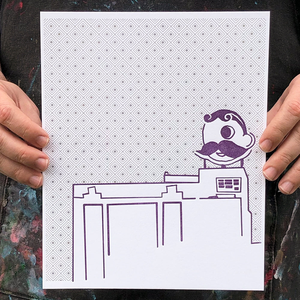 "Baltimore Maryland | Natty Boh Towers | Letterpress 8""x10"" Poster"