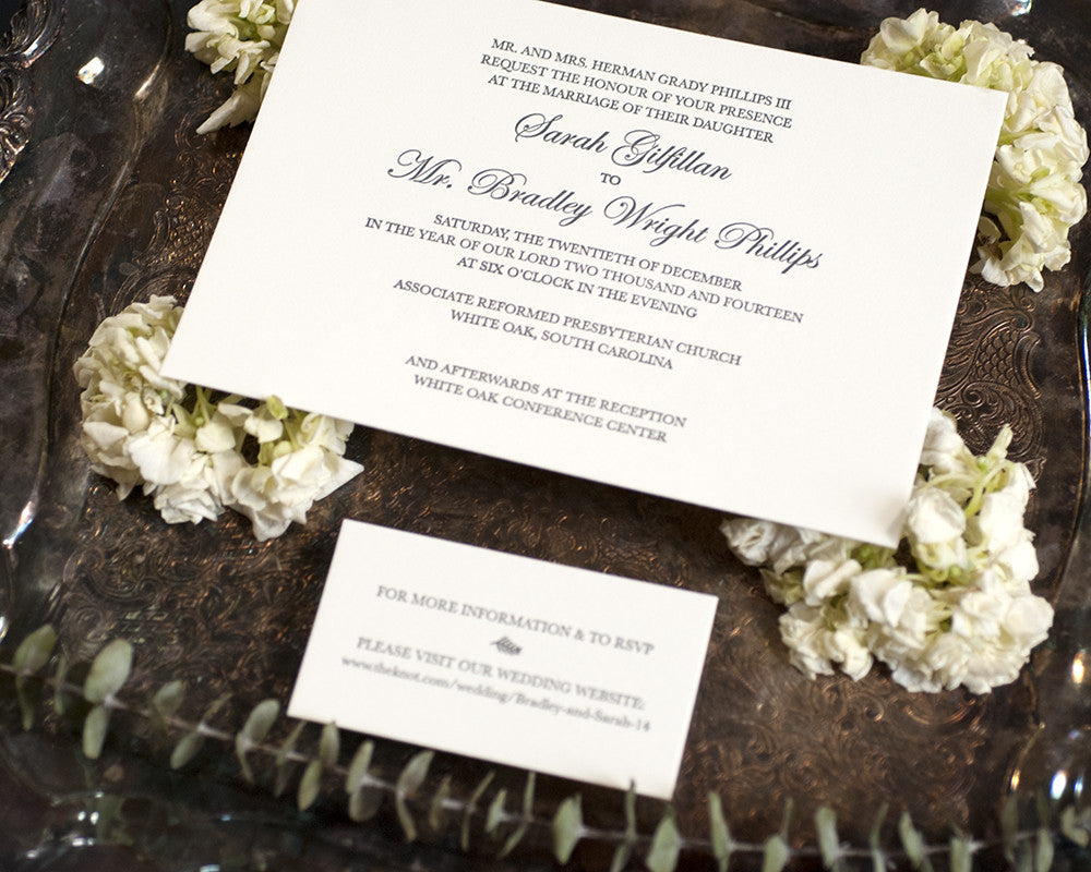 Letterpress Wedding Invitation Suite | Classic Wedding 2