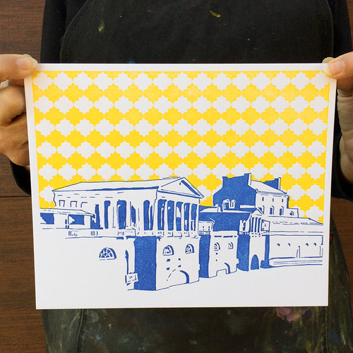 "Philadelphia | Water Works | Letterpress 8""x10"" Poster"