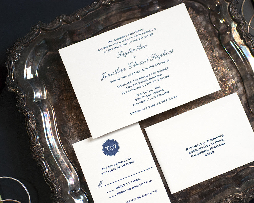 Letterpress Wedding Invitation Suite | Modern Monogram Wedding 2